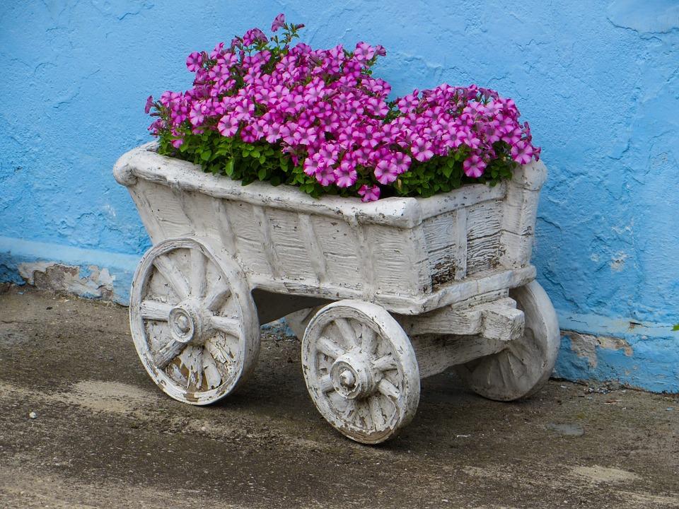 hypertufa planter cart